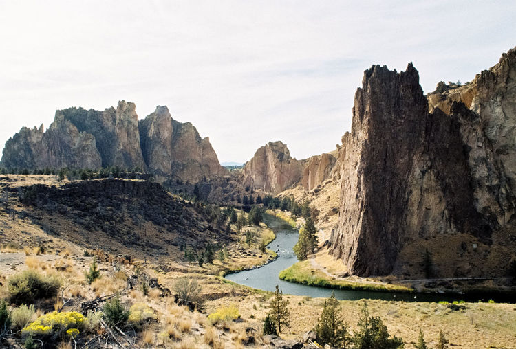 Analogue Photography Exploring Hiking Oregon Pacific Northwest  Portland Smith Rock State Park Travel Beauty In Nature Environment Film Photography Formation Landscape Mountain Mountain Range Nature Outdoors Road Roadtrip Rock Scenics - Nature Sky Tranquility Travel Destinations Water
