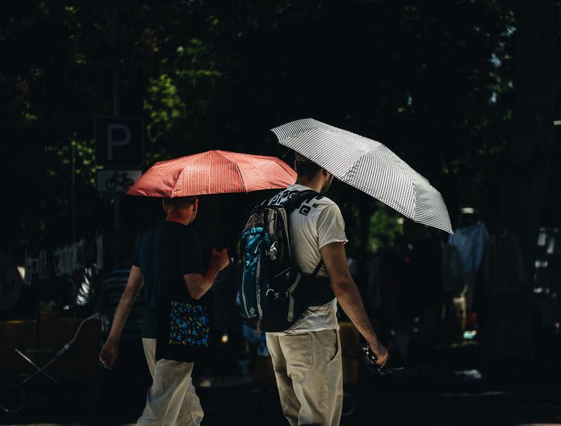 Sun rains Hat Real People Umbrella People Adult Lifestyles Nature Leisure Activity Plant Outdoors Water Day Sunlight Clothing Security Protection Women Group Of People Casual Clothing Rain The Photojournalist - 2018 EyeEm Awards The Street Photographer - 2018 EyeEm Awards The Street Photographer - 2018 EyeEm Awards The Portraitist - 2018 EyeEm Awards Summer Road Tripping
