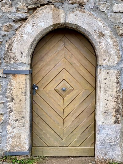 Door Architecture Built Structure Entrance Building Exterior Door Closed Day No People Arch Building Pattern Wall Outdoors Protection Wall - Building Feature Wood - Material Safety Textured  Security Old