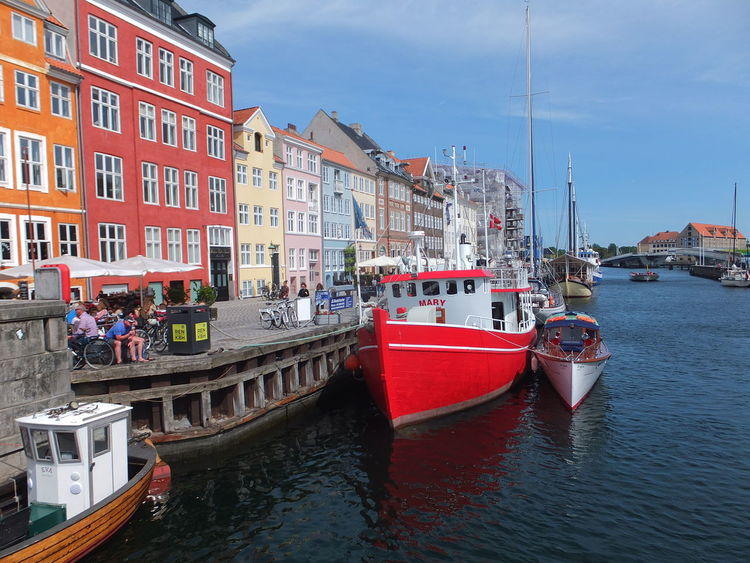 Houses & Promenade, Nyhavn Architecture Blue Sky Boats Botany Bridge Building Exterior Built Structure Canal Capital City City Life Colourful Composition Copenhagen Denmark Houses Incidental People Nautical Vessel Nyhavn Outdoor Photography Residential Buildings Sunlight And Shadow Tourist Destination Travel Destinations Water Waterfront