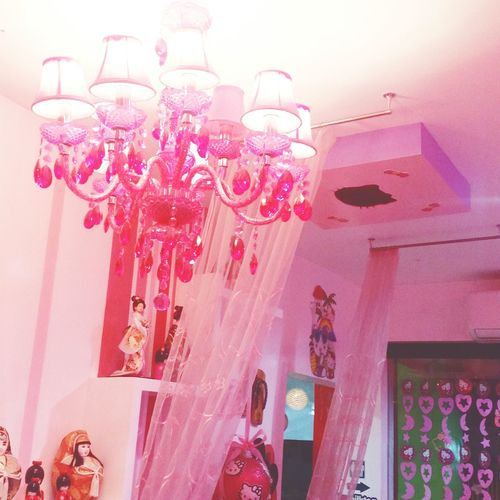 Pink is my thing ♡ Cuteinpink Pinkroom Pinkchandelier Pretty In Pink Cuteplace Lovepink Pinklover