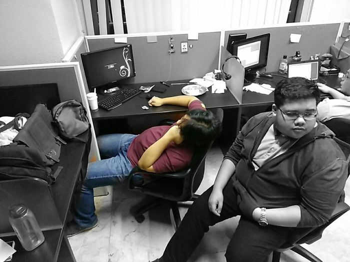 The Innovator Office Working Hard Overstressed Engineers Icengineers