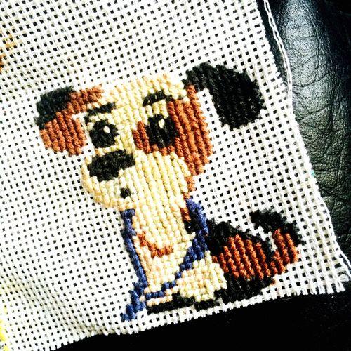 Маленькое хобби хобби вышивка расслабляюсь собачка