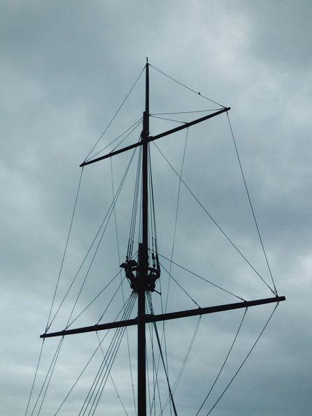 Sailing Ship Sailing Ships Mast Clipper Sky Vintage Black And White Black & White Black And White Photography Monochrome Kinsale Ireland Port