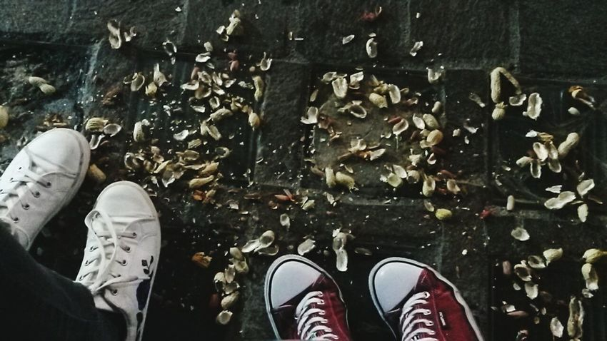 Party in our town means peanuts on the ground Party Town Italy Human Foot Outdoors People Personal Perspective Shoe Low Section Human Leg Human Body Part Standing Canvas Shoe One Person Real People Day Only Men Men Adult One Man Only Adults Only
