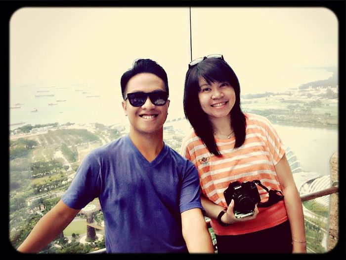 Late post...Singapore, Marina Bay 57th floor Hello World