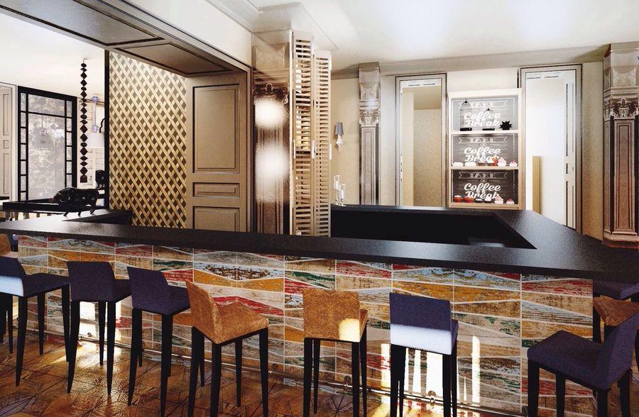 Ресторан дизайн 3d