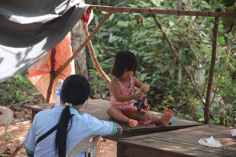 Ankor Thom Ankor Thom Cambodia Travel Childhood Outdoors Playing Real People Sitting