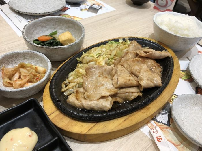Stir fried pork in japanese style! Breakfast Dinner Japanese Style Lunch Pork Rice Food Healthy Eating Japanese Set Japnese Food Meat No People