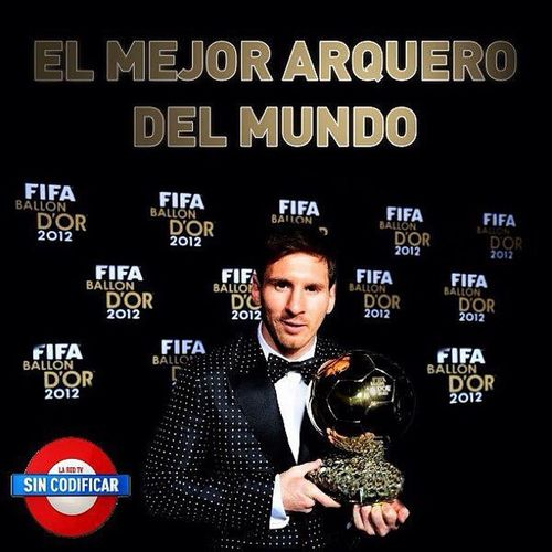 Comgratulations! Lionel messi for winning the Ballon D'Or Award 4th consecutive years in a row. Ballondor Messi 4Peat