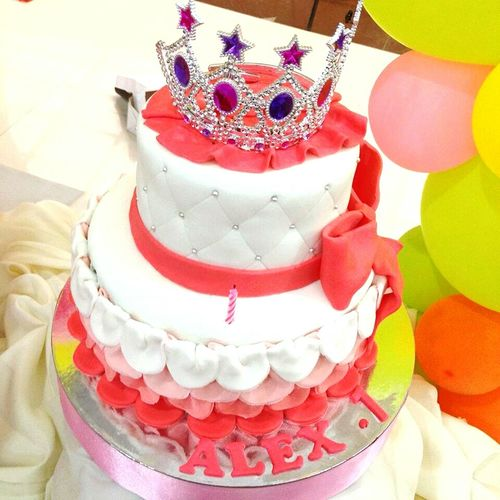 Happiest 1st Birthday Baby Muryot! Cakes Tutu Party Pink Sweets