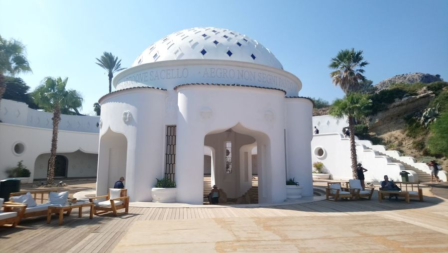 Kalithea Rhodes GREECE ♥♥ Tree Dome Place Of Worship Water Sky Architecture