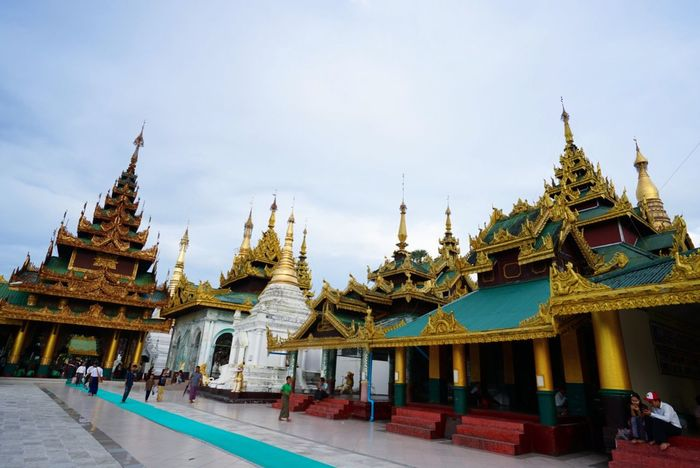 Religion Architecture Spirituality Place Of Worship Sky Built Structure Building Exterior Travel Destinations Day Outdoors No People Shwedagon Pagoda Shwedagon Yangon Myanmar