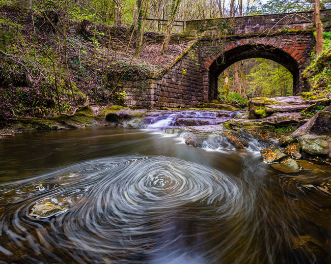 Water Nature No People Flowing Water Motion Architecture Waterfront Plant Tree Long Exposure Beauty In Nature Day Built Structure River Flowing Bridge Connection Forest Arch Outdoors Bridge - Man Made Structure Arch Bridge Purity Stream - Flowing Water