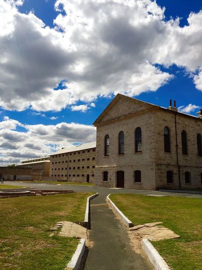 Entrance of the Fremantle Prison in Perth, taken using the iPhone. Freemantle Prison Perth Perth Australia Architecture Blue Sky Footpath Freemantle History IPhone Prison Sunny Day