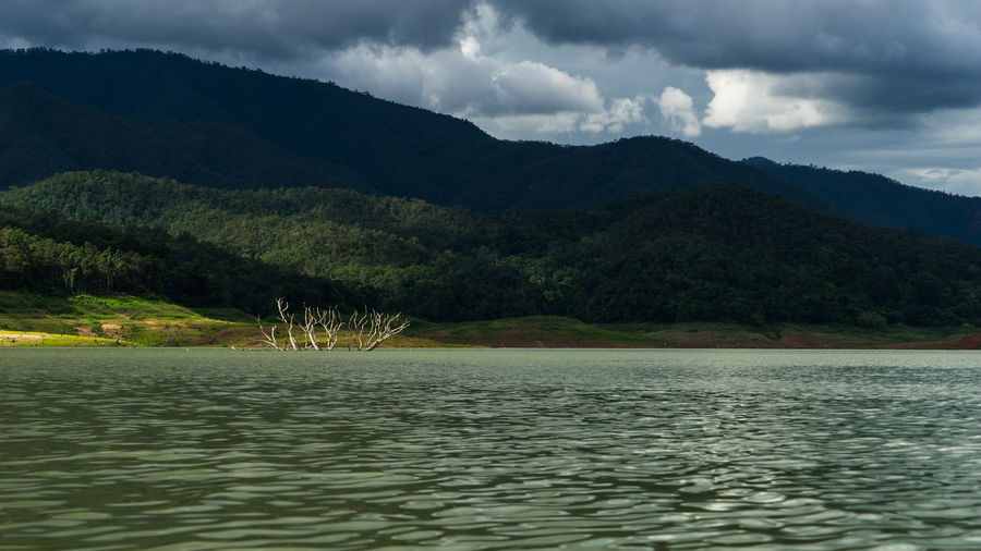 Beauty In Nature Chiang Mai   Thailand Cloud - Sky Clouds And Sky Dark Day Lake Landscape Mae Ngat Mountain Mountain Range Nature No People Outdoors Scenics Sky Thai Thailand Tranquil Scene Tranquility Tree Water