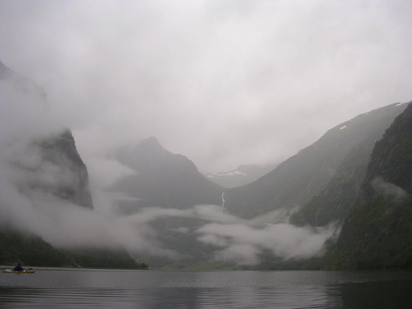 Kayaking Norway Atmospheric Mood Outdoors Sea Foggy Journey Travel Beauty In Nature Cloud - Sky Fjord Fog Kayaking Mountain Mountain Range Nature Miles Away Norway Remote Scenics Solitude Tranquil Scene Tranquility Travel Destinations Water Sognefjord Sognefjorden Neighborhood Map Lost In The Landscape