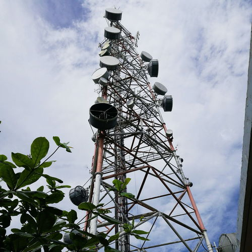 Cloud - Sky Low Angle View Day Sky No People Outdoors Rural Scene Technology Site Communication Communications Tower Network Signal Station Plant Tour