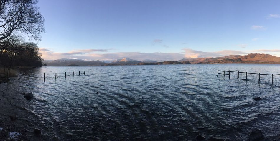 Loch  LochLomond Nature On Your Doorstep Panoramic Visit Scotland Wintertime Blue Sky Day Mountain Mountain Range Nature No People Non-urban Scene Outdoors Rural Scene Scenics Shore Sky Tranquility Water