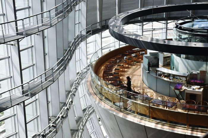 Architecture High Angle View Built Structure Spiral Steps And Staircases Indoors  Curve Spiral Staircase Day No People City Kiminonawa Architecture 君の名は Steps