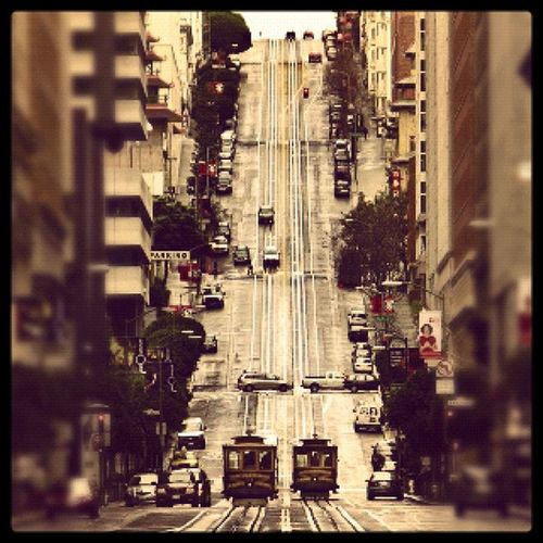 Sanfrancisco Tram Bosshunting Hill nodoubt