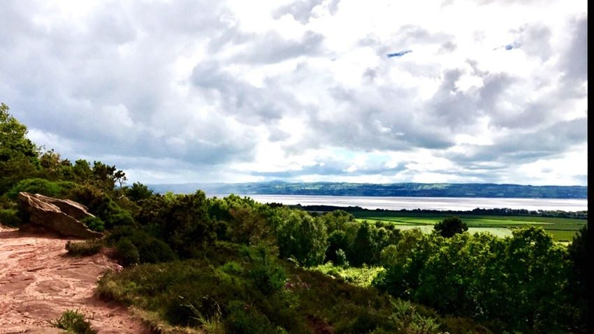 Thurstaston Hill Wirral Outdoors View Stroll Wirral Peninsula Clouds And Sky United Kingdom Sandstone Cliffs Trees Clouds