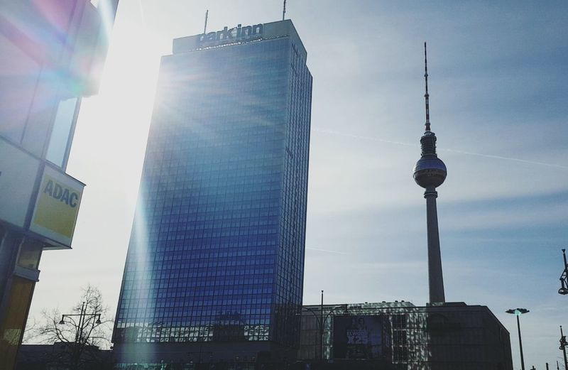 Fernsehturm & ParkinnBusiness Finance And Industry Skyscraper Social Issues City Communication Sky Urban Skyline Tower Architecture Technology Cityscape Sunbeam No People Outdoors Alexanderplatz Berlin Photography Berlin Fernsehturm Parkinn Hotel Berlin Mitte Berlin Life Sunset Sun Fernsehturm Berlin