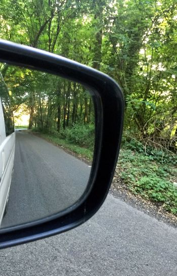 The Journey Is The Destination Rear View Mirror Mirror Image Car Close-up Part Of On The Move Side View Mirror Focus On Foreground Mobile Conversations