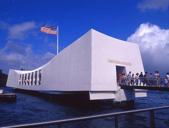 USS Arizona Memorial (BB39) Memorial Pearl Harbor Memorial Clouds Clouds And Sky Day Sky Us Flag Inthe Sky Uss Arizona Memorial