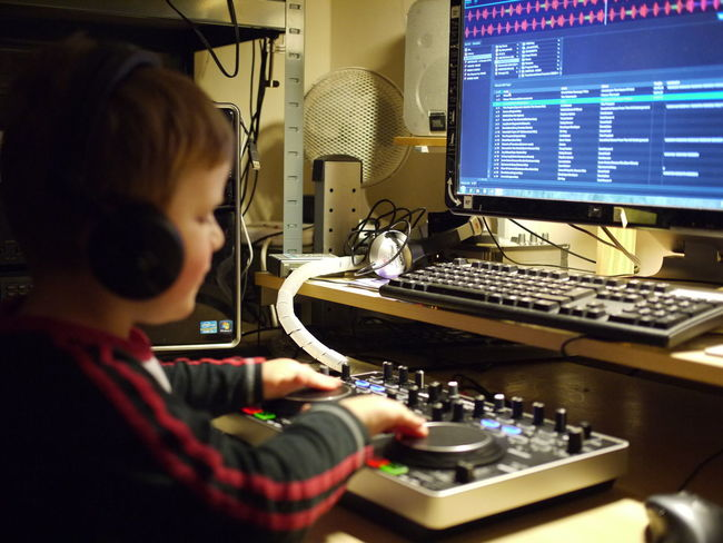 my son learning to mix! Enjoying Life Learning By Doing Father And Son Father & Son Mirrorless Panasonic Lumix Enjoying Life Serato Denon DJ Denon