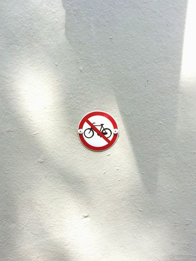 Bikes are not always welcome in Amsterdam. ;-) Open Edit Signs Amsterdam Walking Around Streetphotography Bike No Bikes Allowed Bikes Of Amsterdam Forbidden Red