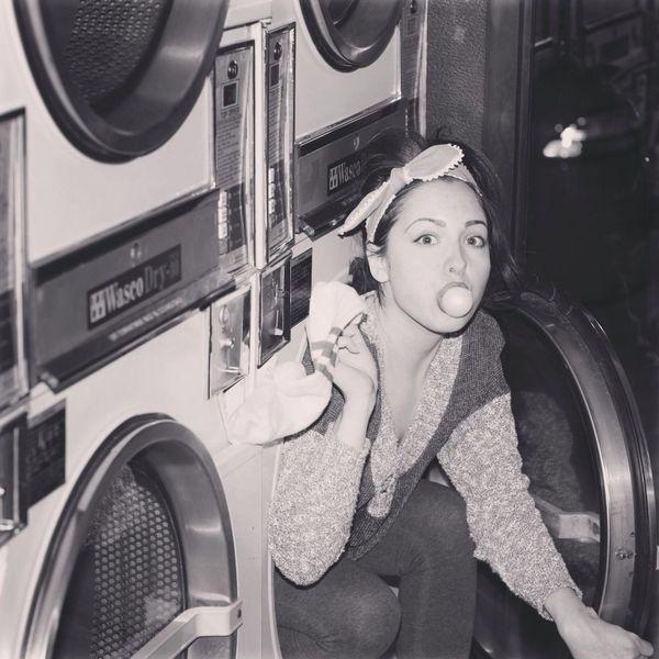 NYC Selfportrait Doing Laundry Socks