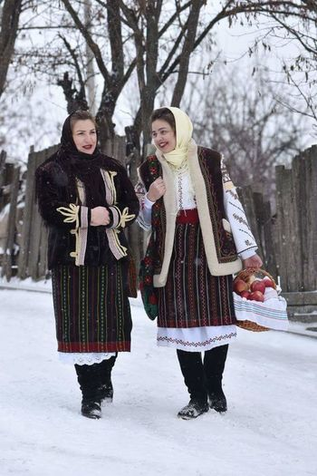 Winter Winter Holiday Traditional Costume Traditional Culture Republic Of Moldova Steaua Christmas People Happy People❤ Sweet😍 Cold Temperature Snow Winter