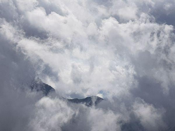 Summit Zugspitze, Bavaria, Germany Mountain Fog Landscape Sky Cloud - Sky