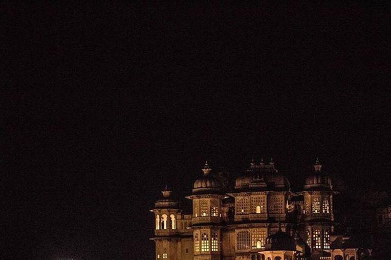 Palace pleasures Udaipur Udaipurpalace Palaceatnight Lights Night Canon Jaali Windows Rajasthan