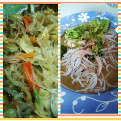 Pleasure with the tempting food.... * Food of the day yang memang sedapp tahap infinity.... *Sayur Goreng Jawa & Laksa Perlis...memang sedapp ooo... Almightybless Food OhMyRaya