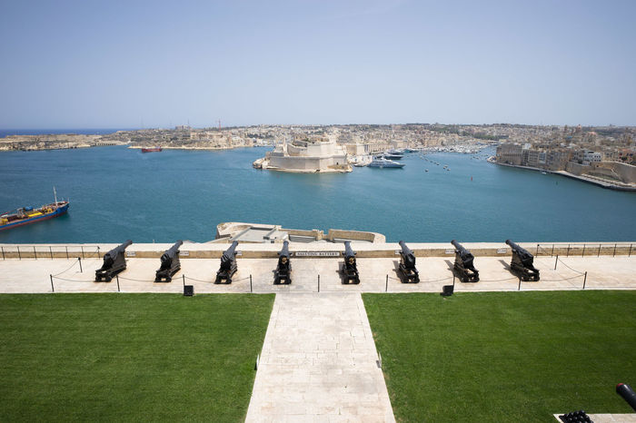 Saluting Battery in Valletta, Malta Malta Saluting Battery Architecture Battery Built Structure Cannons And Forts History No People Travel Destinations