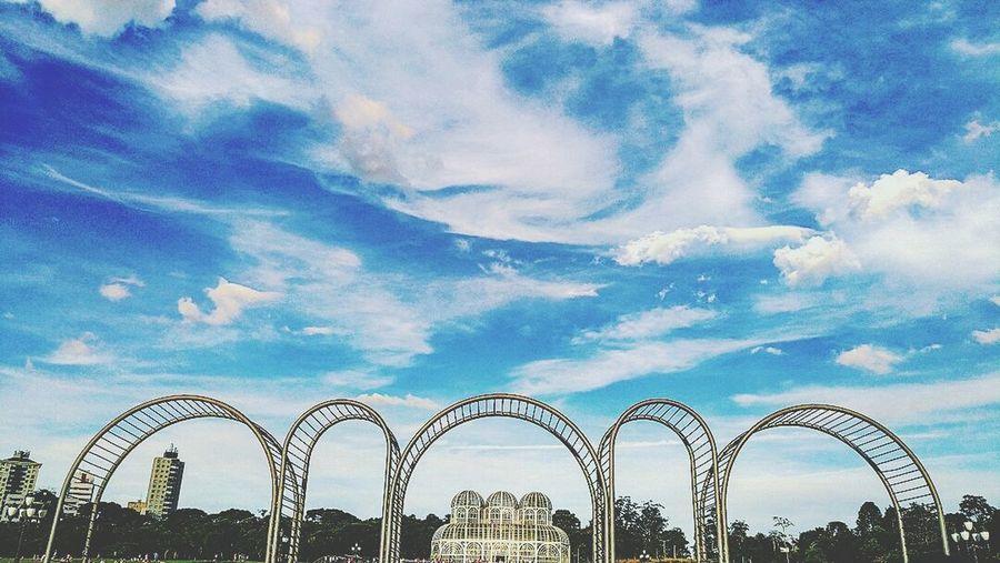 Garden in city. Jardimbotanico Architecture Multi Colored Cloud - Sky Brazil Curitiba Jardim Botanico Outono