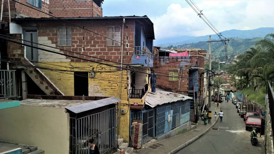 Colombia Medellín Poor  Architecture Building Exterior Built Structure City Comuna 13 Poorpeople Residential District Road
