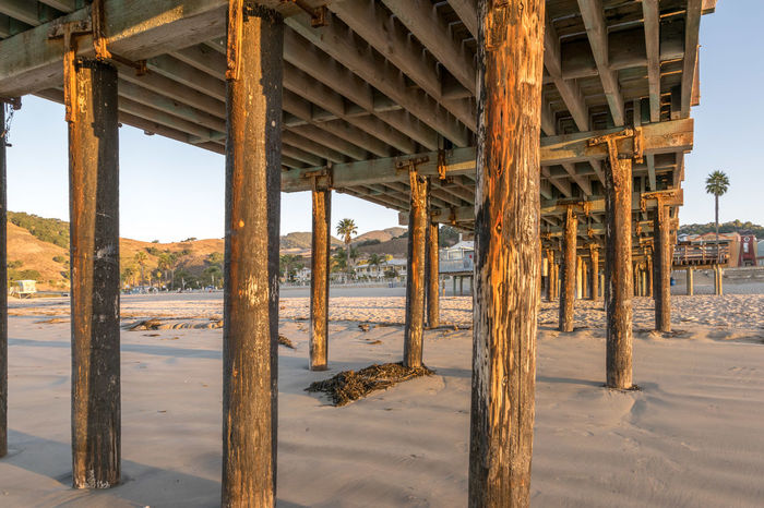 Avila Beach CA Pier Architecture Beach Day Nature No People Outdoors Sea Sky Sunrise Underneath Water