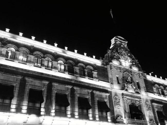 Black And White Friday Mexico City Zocalocdmx Night Illuminated Architecture City No People History Lights EyeEmNewHere