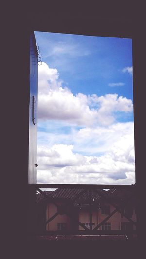The view of cloud from my room somehow calm my mind..