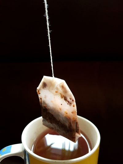 Teatime 😊 EyeEm Selects Drink Tea - Hot Drink Water Motion Studio Shot Close-up Food And Drink Teabag Black Tea Tea Cup Tea Afternoon Tea