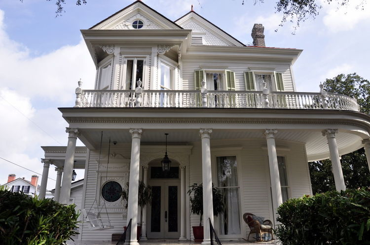 Architectural Column Architecture Building Exterior Garden District New Orleans No People Old House Outdoors