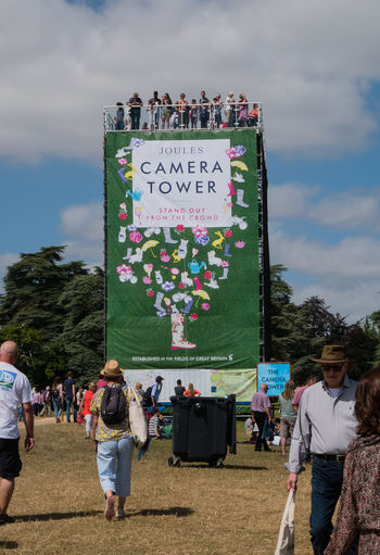 Camera tower sponsored by Joules at the Countryfile Live show at Woodstock Casual Clothing Country Show Day Out Large Group Of People Leisure Activity Outdoors Tourism Tower Viewing Viewing Platform