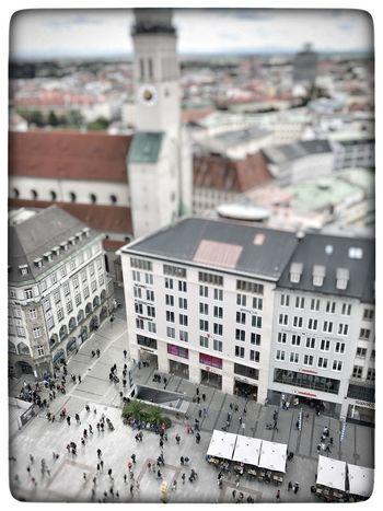 Munich Toys Iphonephotography IPhoneography München Architecture Building Exterior Built Structure Day High Angle View City Residential Building