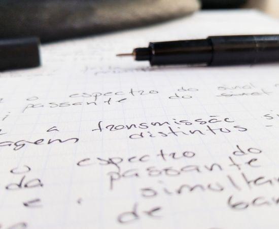 Study Text Paper Ink On Paper Paper Test Transmissão Estudar  Estudo Papel Caneta Engenharia