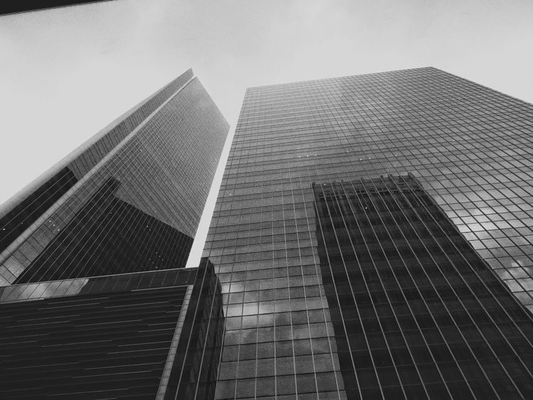 Architecture Built Structure Skyscraper Building Exterior Low Angle View No People City Urban Skyline Cityscape Outdoors Manmadestructures Low Angle View Travel Destinations Modern Architecture Singapore The Week On EyeEm Black And White Friday