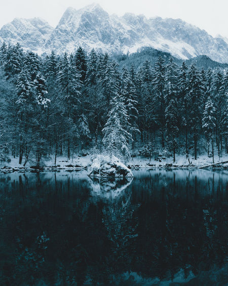 A tree on an island in a cold lake in winter Beauty In Nature Cold Temperature Day EyeEm Best Shots EyeEm Nature Lover Forest Lake Land Landscape Mountain Mountain Range Nature No People Outdoors Reflection Scenics Sky Snow TheWeekOnEyeEM Tranquility Tree Water Winter