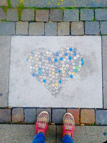 The Following i follow my heart and my feed Heart ❤ Beercaps Streetart Kopenhavn A Bird's Eye View Art Is Everywhere Out Of The Box Place Of Heart Your Ticket To Europe Love Yourself